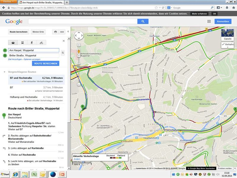 Screen Shot Google Maps