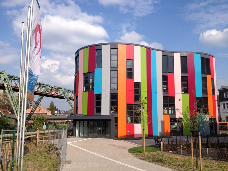 The colorful building of the junior university.