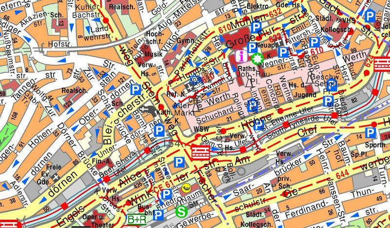 Wuppertal Karte Stadtteile.Stadtplan Geoportal