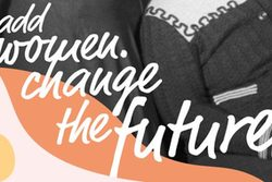 Postkarte women change the future